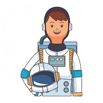 Caricature de haut du corps astronaute