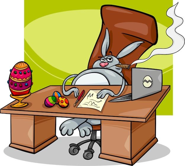 Caricature d'homme d'affaires de pâques
