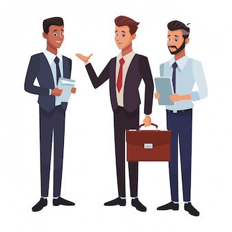 Caricature d'hommes d'affaires