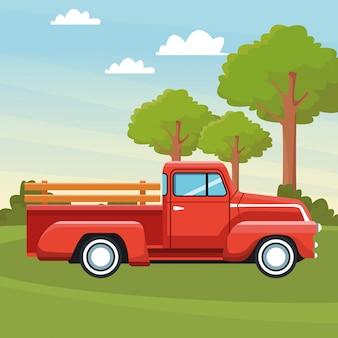 Caricature d'icône de camion