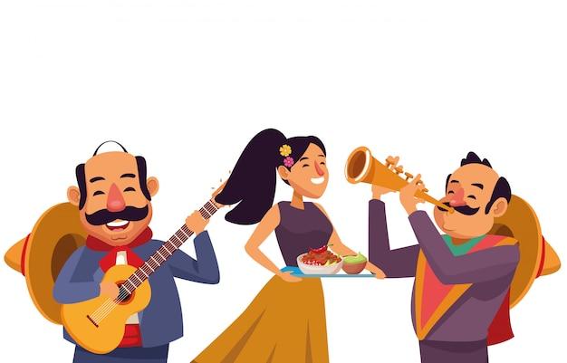 Caricature d'icône de la culture traditionnelle mexicaine