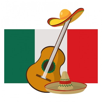 Caricature d'icône mexicaine