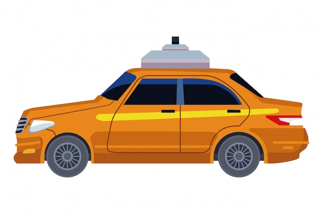 Caricature d'icône de voiture de taxi