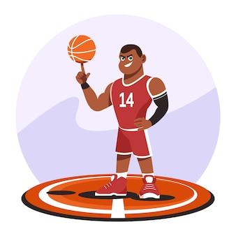 Caricature de joueur de basket-ball