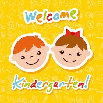 Caricature de kinder garten