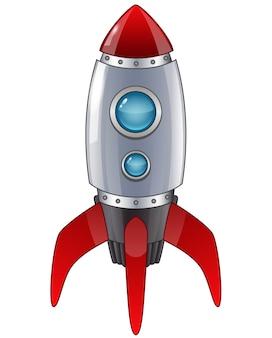 Caricature de lancement de fusée