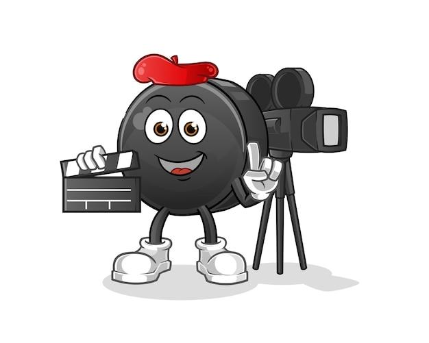 Caricature de mascotte de directeur de noix