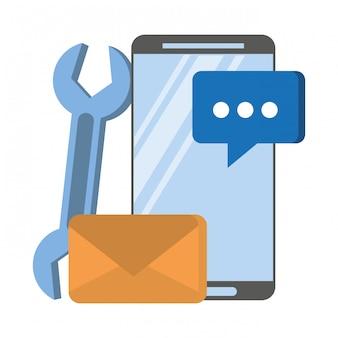 Caricature de matériel numérique web technologie