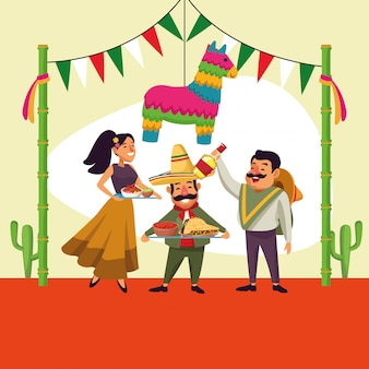 Caricature mexicaine de cinco de mayo