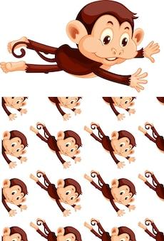 Caricature de modèle animal sans couture et isolé
