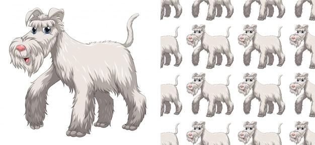 Caricature de modèle animal sans soudure et isolé