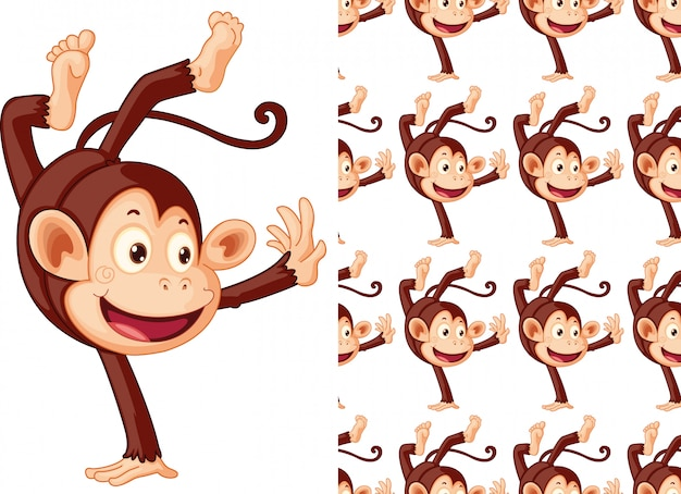 Caricature de modèle animal singe transparente