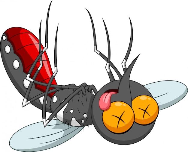 Caricature de moustique mort