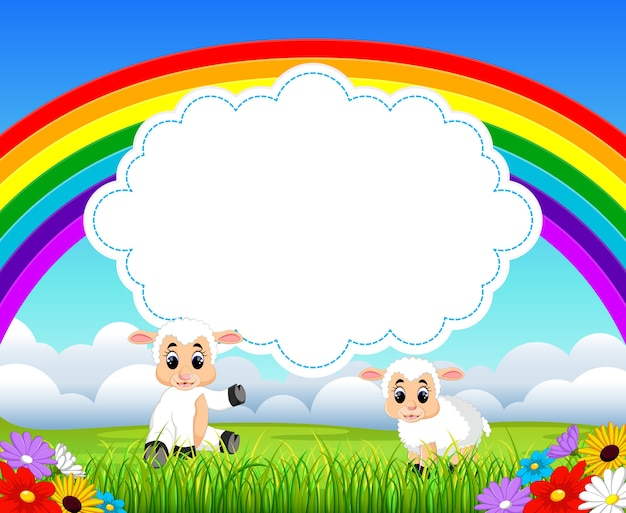 Caricature de mouton mignon