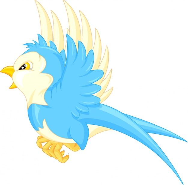 Caricature d'oiseau volant