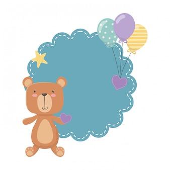 Caricature d'ours en peluche
