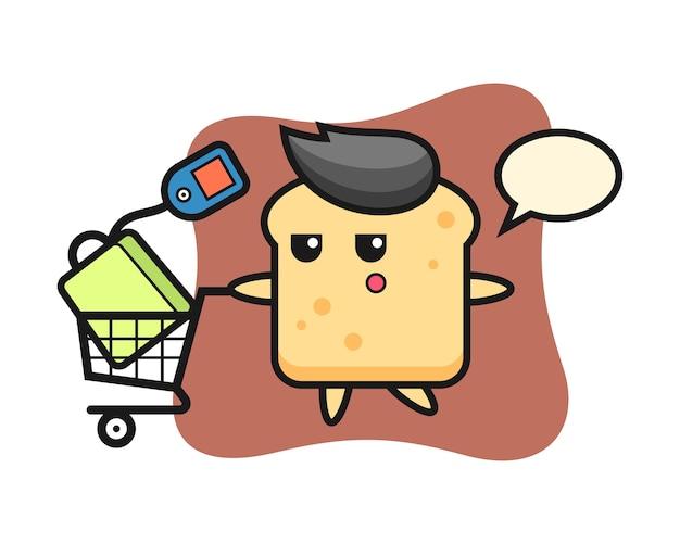 Caricature de pain avec un panier