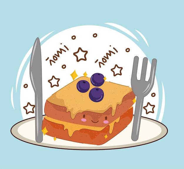Caricature de pain de petit déjeuner