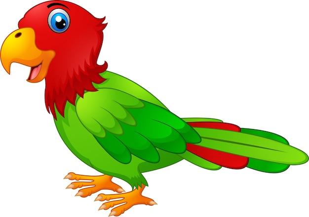 Caricature de perroquet mignon