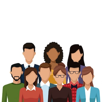 Caricature de personnes et d'amis caricature de jeunes couple