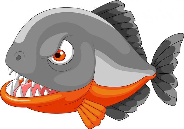 Caricature de piranha