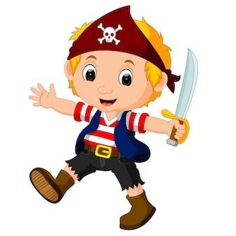 Caricature de pirate garçon enfant