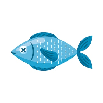 Caricature de poisson cru