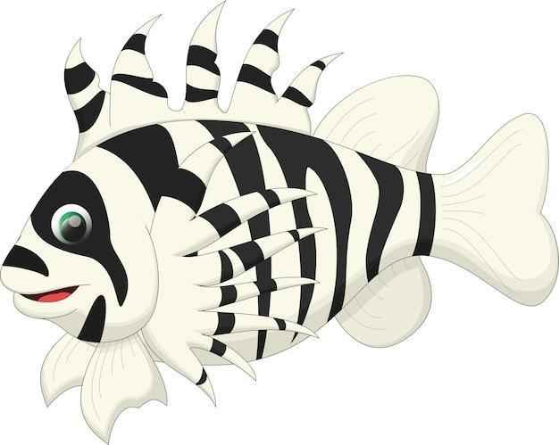 Caricature de poisson lion