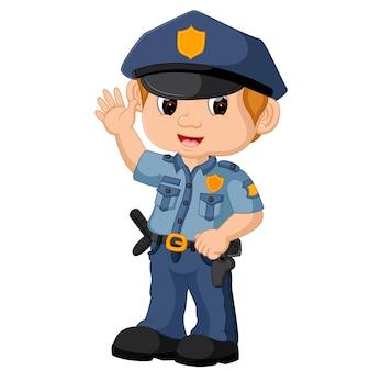 Caricature de policier