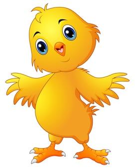 Caricature de poulet mignon