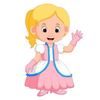 Caricature de princes fille enfants