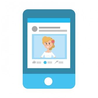 Caricature de profil de réseau social