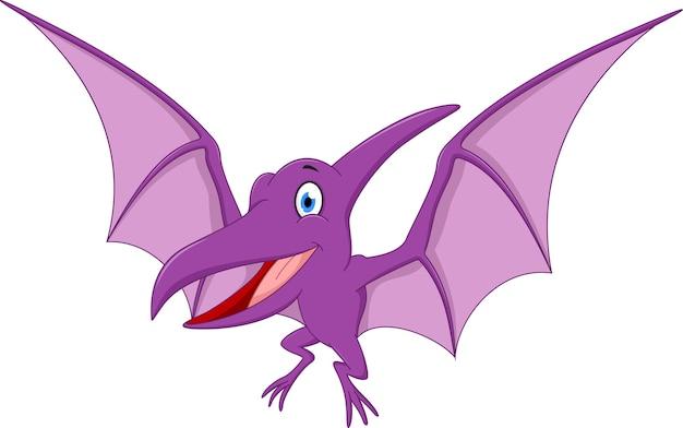Caricature de ptérodactyle heureux