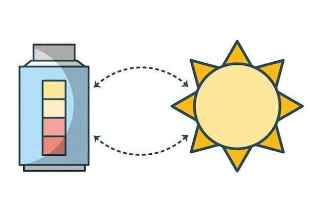 Caricature de recharge d'énergie verte