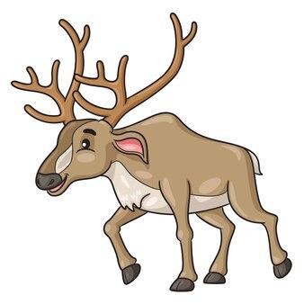 Caricature de renne