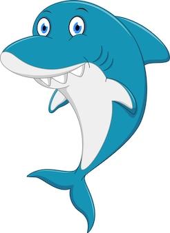 Caricature de requin en colère