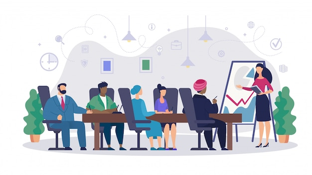 Caricature de la réunion informative des actionnaires