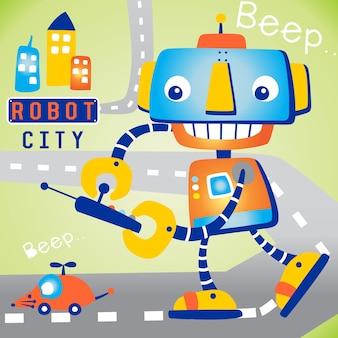 Caricature de robot fubny