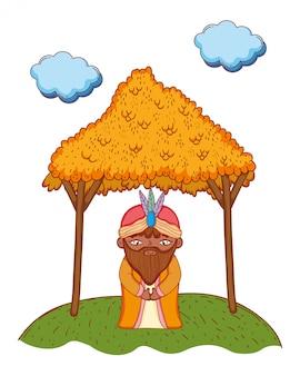 Caricature de roi sage