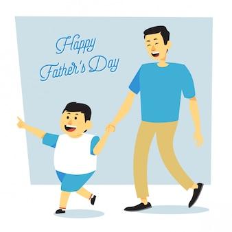 Caricature simple fête des pères