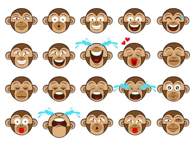 Caricature de singe émoticônes