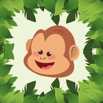 Caricature de singe de jungle