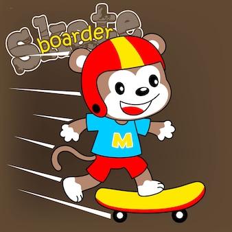 Caricature de skateur