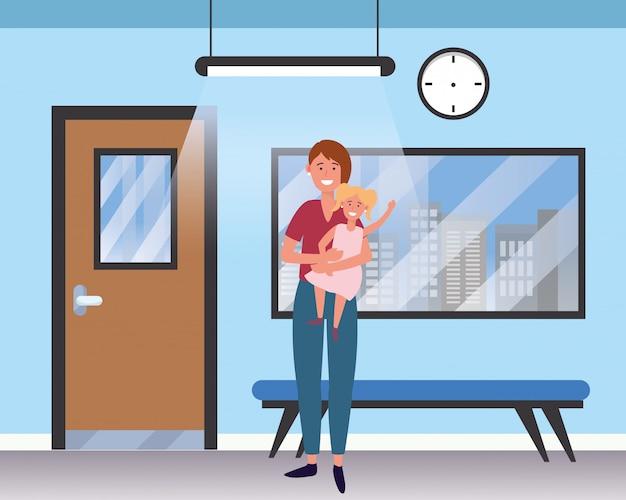 Caricature de soin de bébé