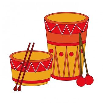 Caricature de tambour de musique instrument de musique