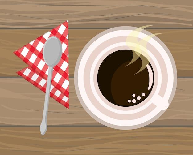 Caricature de tasse à café