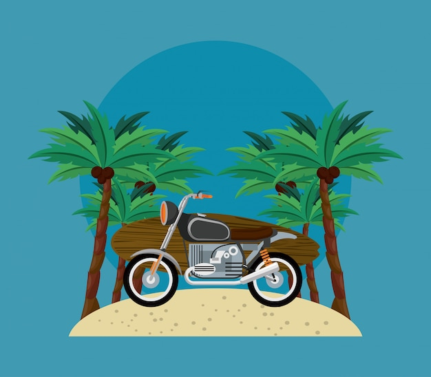 Caricature de temps de surf