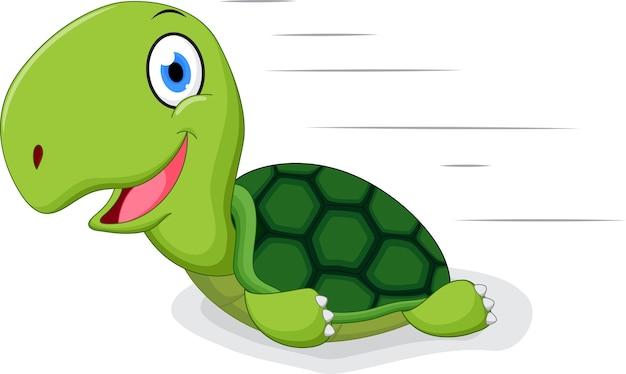 Caricature de tortue amusante