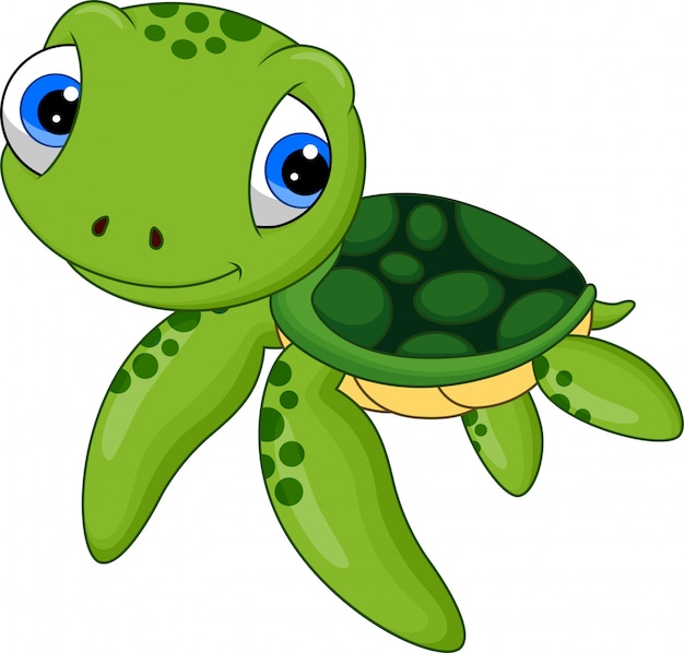 Caricature de tortue de mer bébé