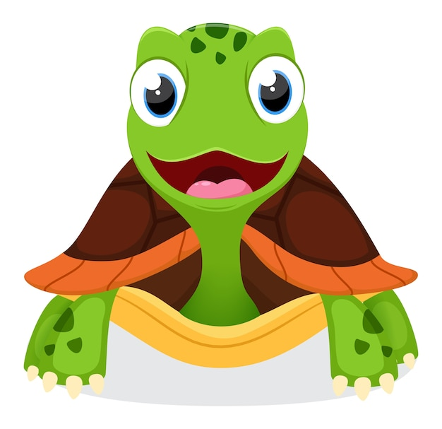 Caricature de tortue mignonne